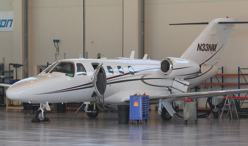 Cessna 525 CitationJet N33NM.<br /> By Jim Calow.