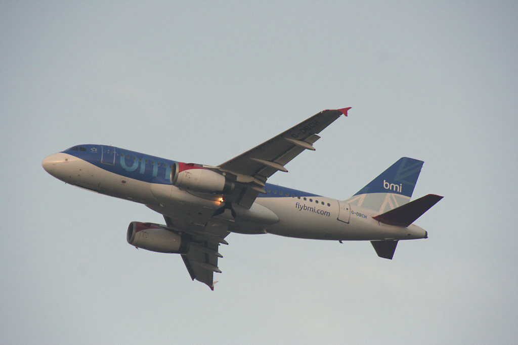 BMI A319 G-DBCH over Bawtry.<br /> By Graham Vlacho.