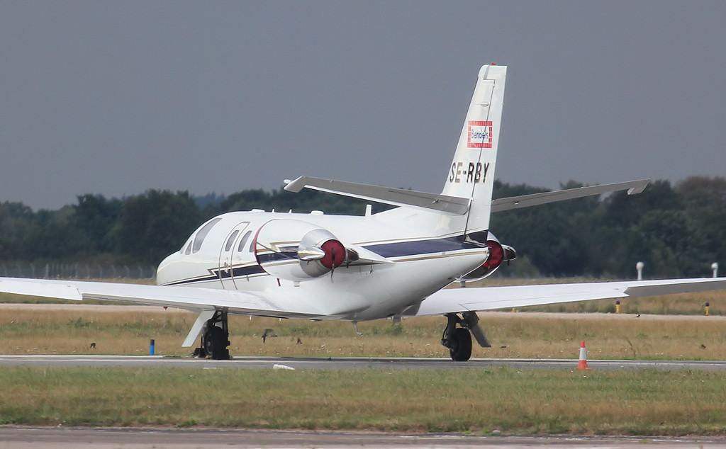 AB Benders Takpanneindustri Cessna 550B Citation Bravo SE-RBY<br /> By Jim Calow.