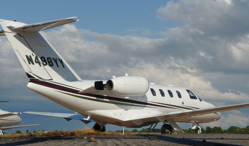 A worms eye view................... Cessna 525 CitationJet CJ1 N498YY.<br /> By Jim Calow.