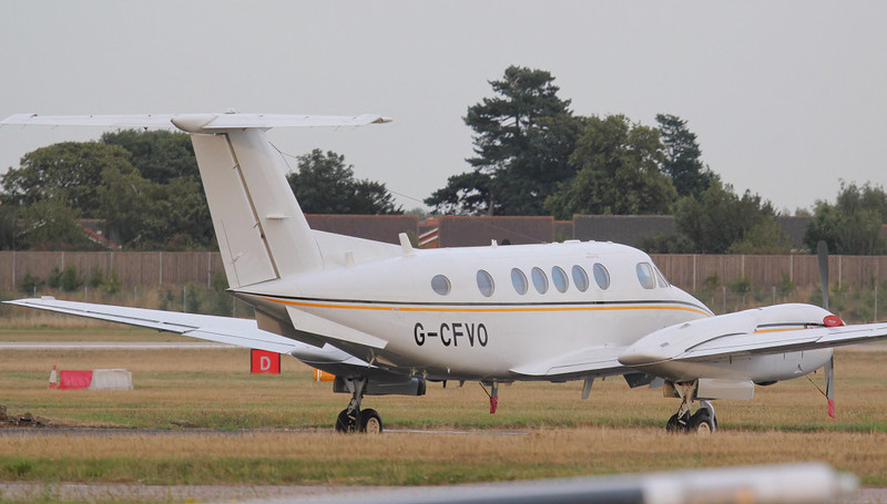 Beech 200 Super King Air G-CVFO.<br /> By Jim Calow.