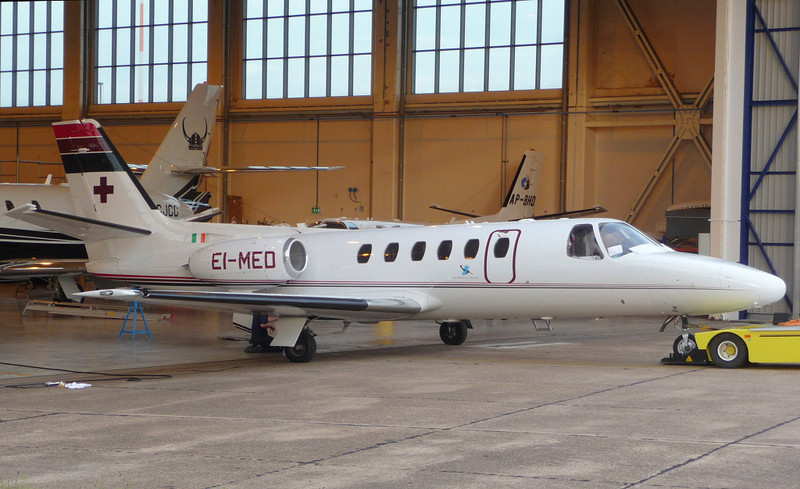 AeroMedEvac Cessna 550 Citation EI-MED<br /> By Jim Calow.