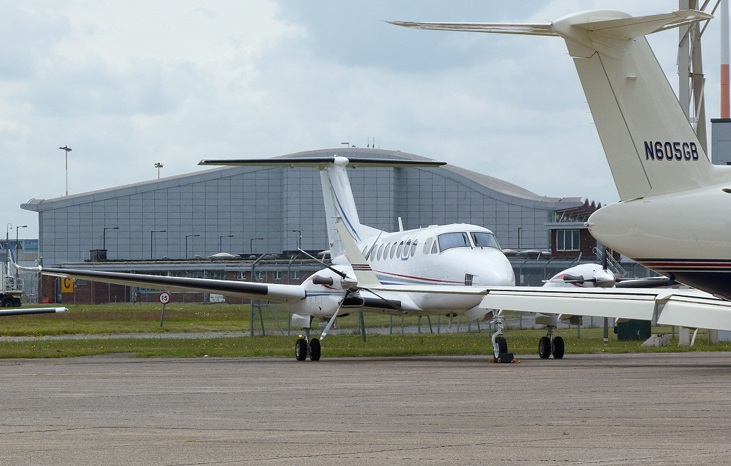 Beech B300 Super King Air 350  F-GTEM  <br /> By Clive Featherstone.