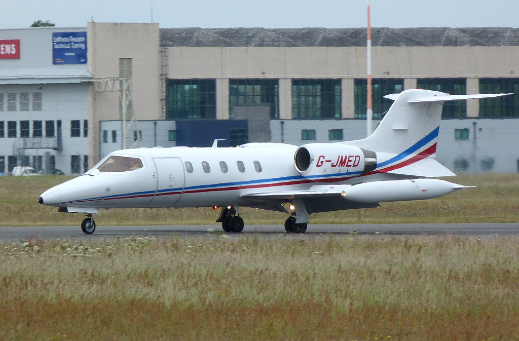 Air Medical Fleet  Learjet 35A  G-JMED<br /> By Clive Featherstone.