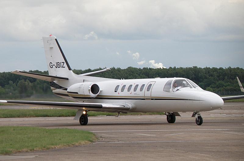Cessna 550 Citation II  G-JBIZ<br /> By Correne Calow.