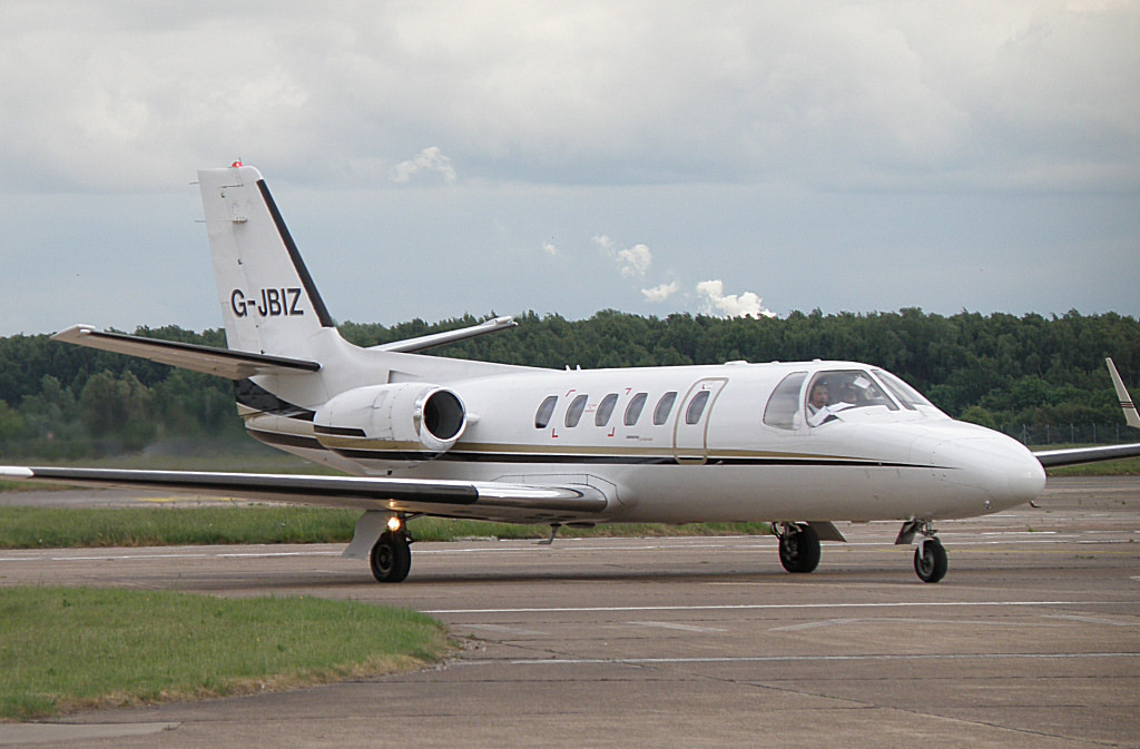 Cessna 550 Citation II  G-JBIZ<br /> By Correne Calow.