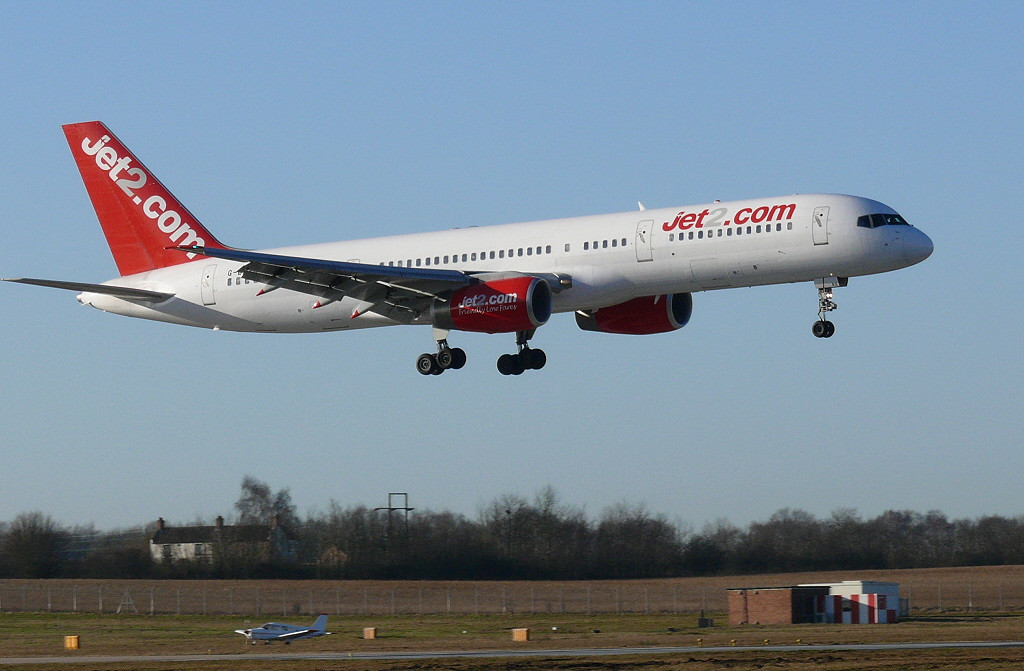 Jet2 757-200 G-LSAD<br /> By Clive Featherstone.