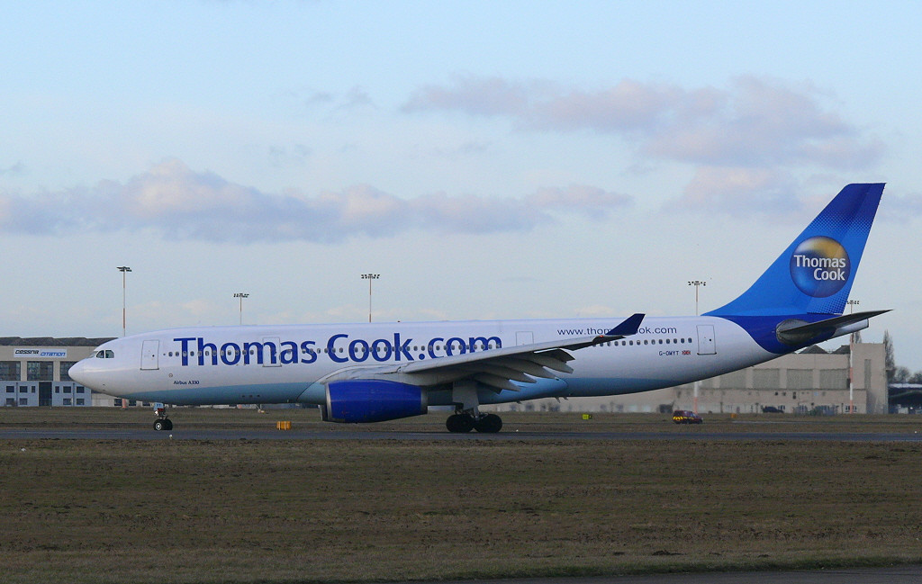 Thomas Cook A330 G-OMYT<br /> By Clive Featherstone.