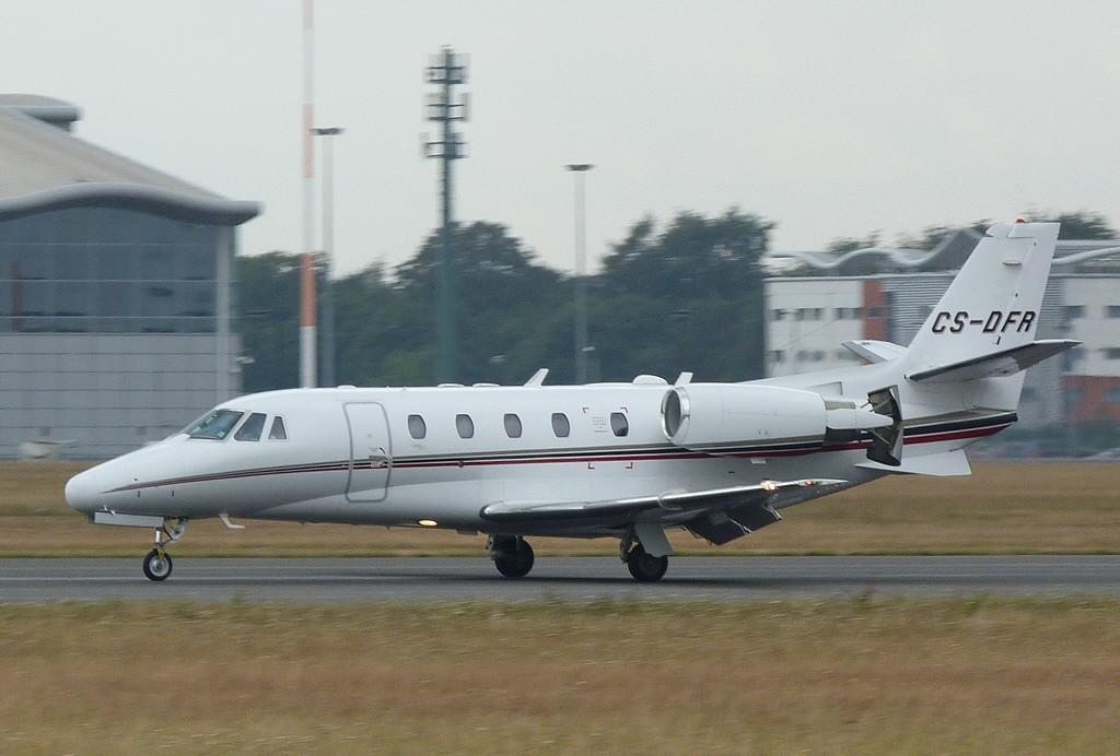 Netjets Citation 560XL  CS-DFR<br /> By Clive Featherstone.