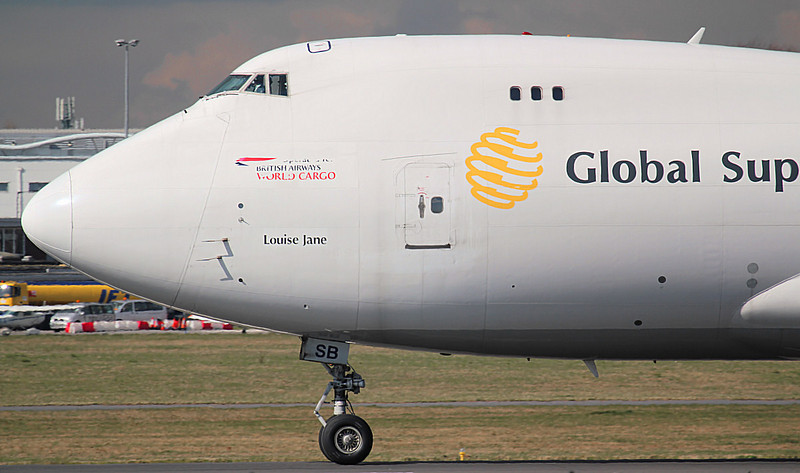 Global Supply 747-400 G-GSSB. By Jim Calow.