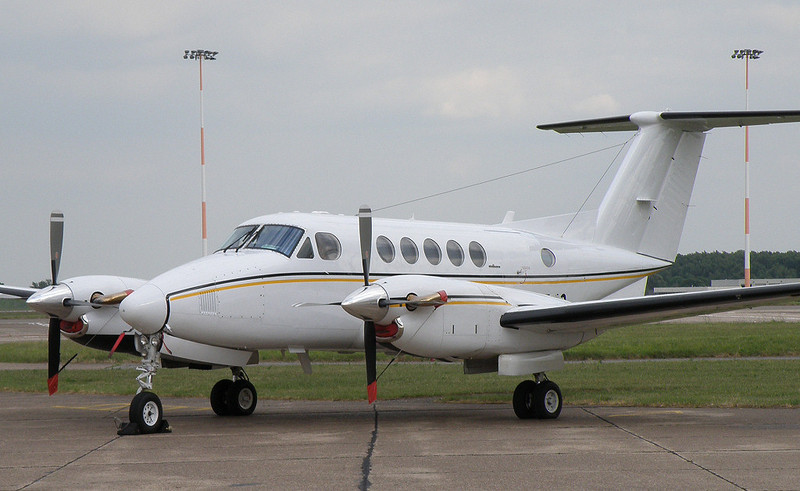 Beech 200 Super King Air  G-CFVO<br /> By Correne Calow.