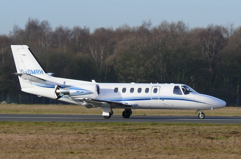 Citation 550 Bravo G-OMRH<br /> By Clive Featherstone.