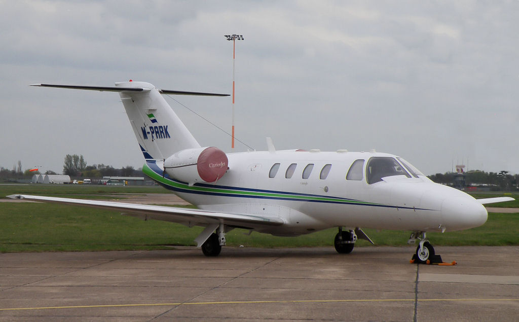 Cessna C525 Citation CJ1  M-PARK<br /> By Correne Calow.