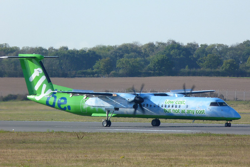 .........but not on this side. Flybe DHC-8-400 G-JEDP.<br /> By Clive Featherstone.