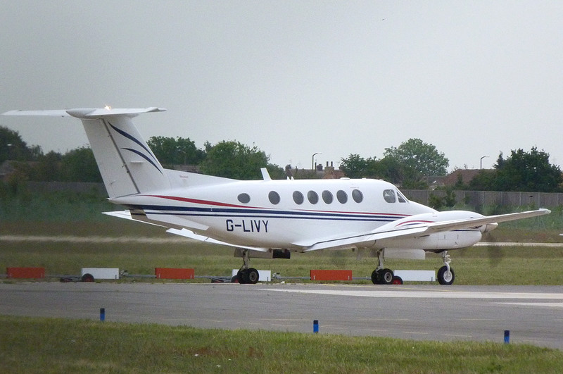 Beech 200 Supper King Air  G-LIVY<br /> By Clive Featherstone.