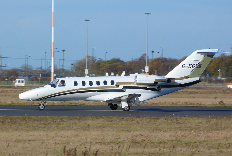 Air Charter Scotland Cessna 525A CitationJet CJ2 G-CGSB.<br /> By Clive Featherstone.
