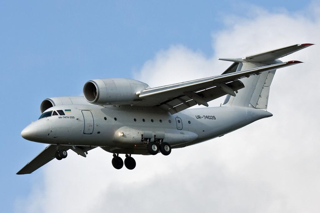 Motor Sich Airlines Antonov AN-74TK-200 UR-74026.<br /> By David Bladen.