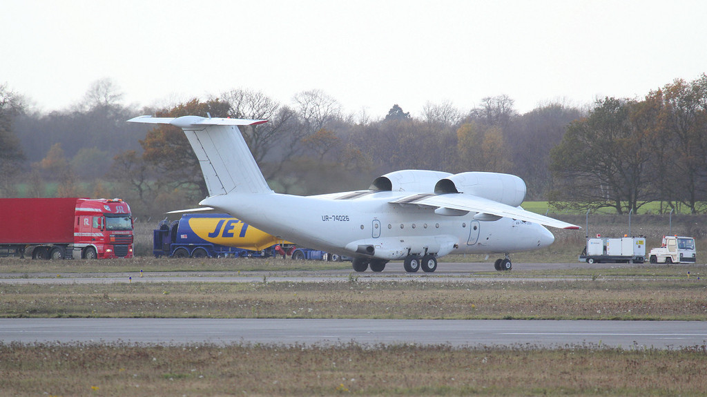 Motor Sich Airlines Antonov AN-74TK-200 UR-74026.<br /> By Jim Calow.