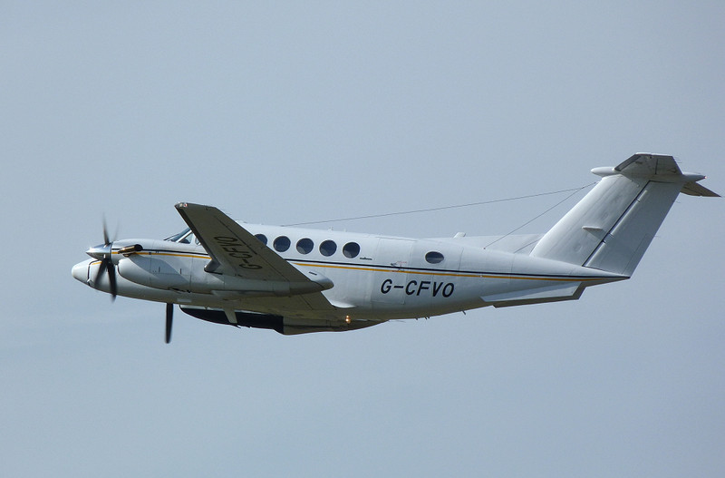 Beech B200 Super King Air  G-CFVO<br /> By Clive Featherstone.