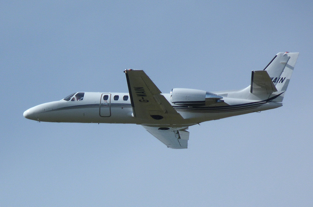 Citation Bravo 550  G-WAIN<br /> By Clive Featherstone.