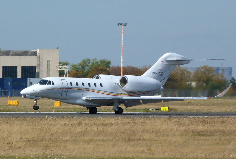 Cessna Citation 750X  OE-HUB<br /> By Clive Featherstone.