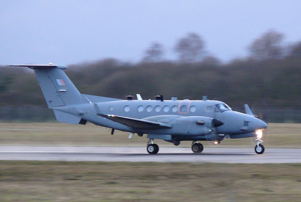 RAF Beechcraft 350ER Shadow R1  ZZ416 from Waddington <br /> By Clive Featherstone.