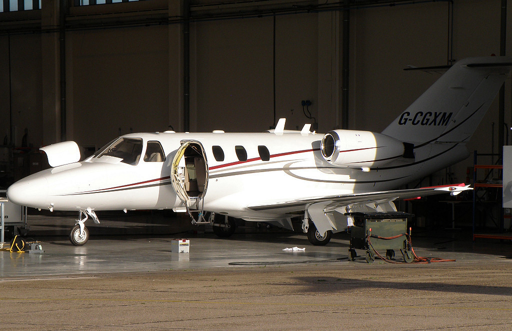 Cessna 525 CitationJet  G-CGXM  (ex D-IBBA)<br /> By Correne Calow.