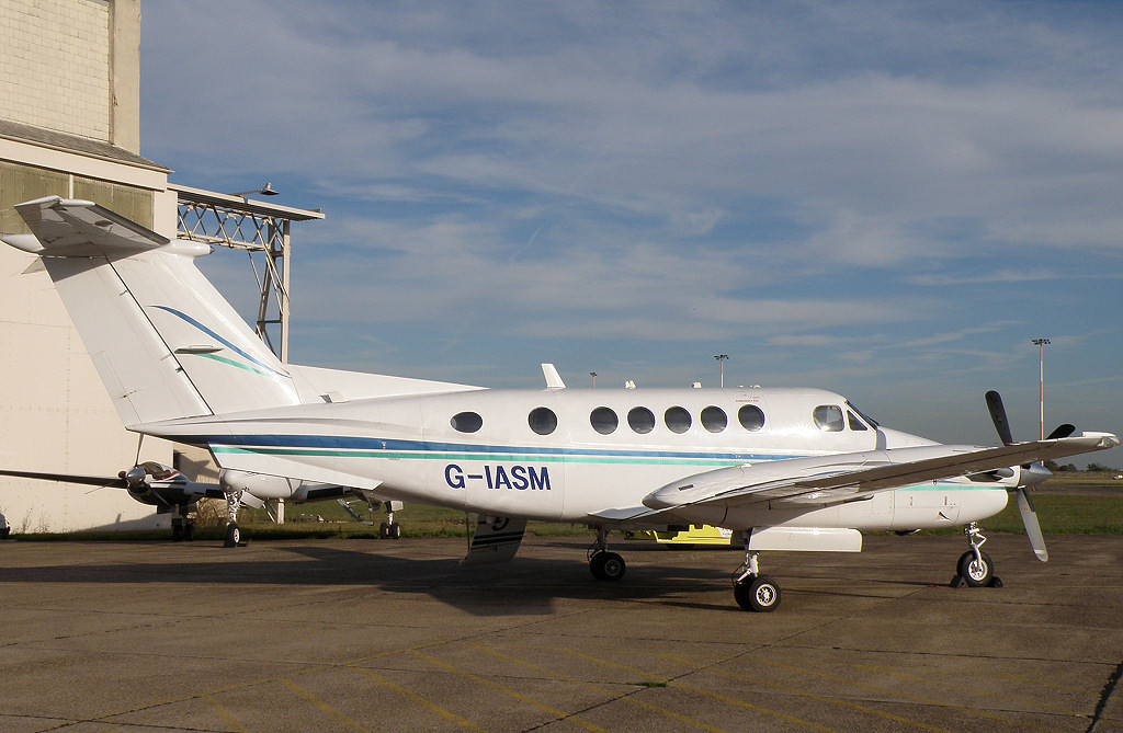 Beech 200 Super King Air  G-IASM<br /> By Correne Calow.