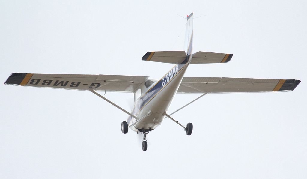 Cessna F150L G-BMBB.<br /> By Jim Calow.