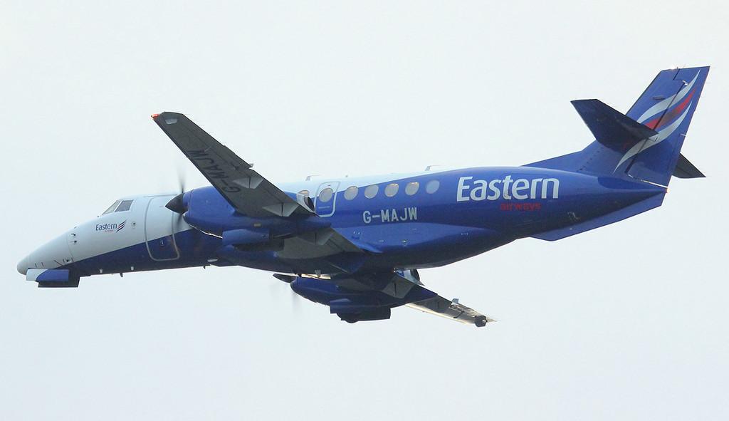 G-MAJW en route for Aberdeen.<br /> By Jim Calow.