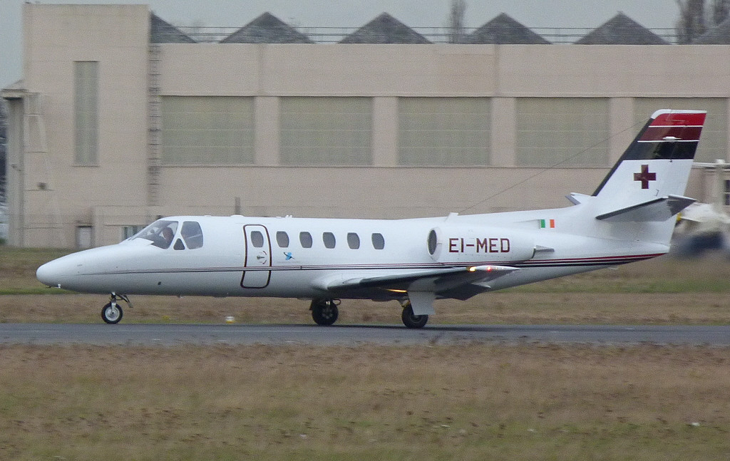 Cessna 550 Citation II EI-MED aborted it's take-off after an instrument failure.<br /> By Clive Featherstone.