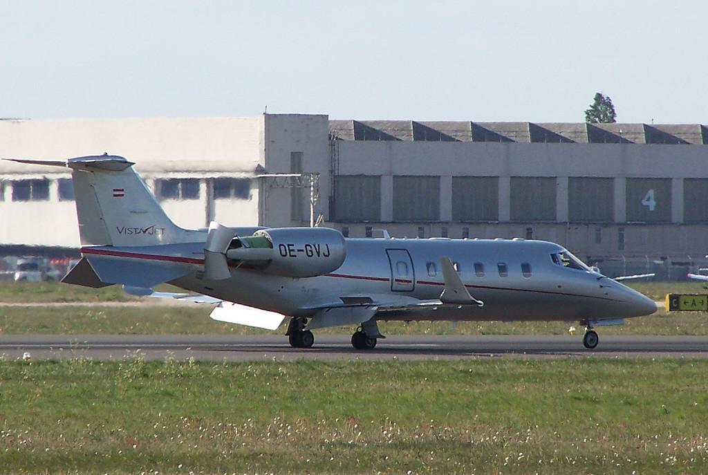 Vista Jet  Learjet 60 OE-GVJ<br /> By Clive Featherstone.