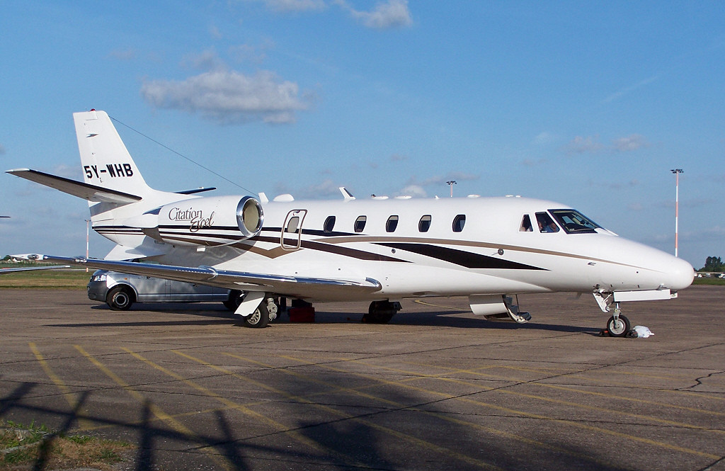 Cessna 560XL Citation Excel 5Y-WHB<br /> By Clive Featherstone.
