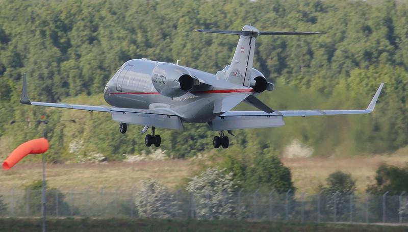 Vista Jet  Learjet 60 OE-GVJ<br /> By Jim Calow.