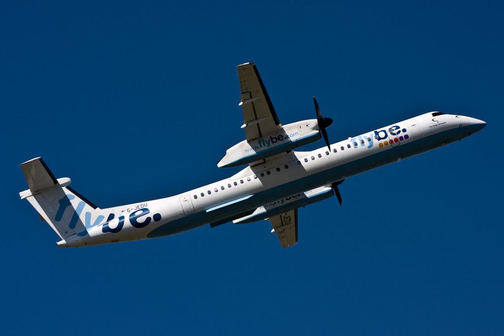 Flybe DHC-8-400  G-JEDU<br /> By David Bladen.