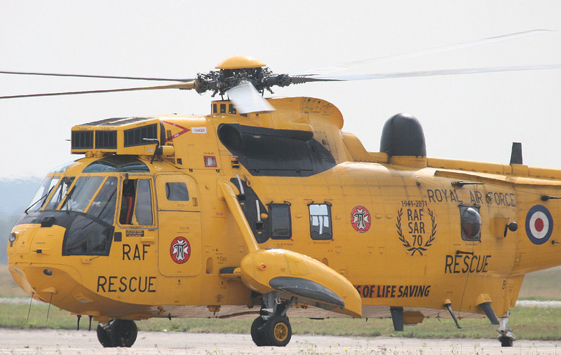 """RAF Sea King ZH541 """"Rescue 125""""<br /> By Correne Calow."""