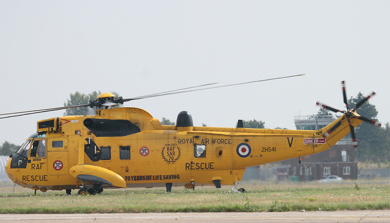 """RAF Sea King ZH541 """"Rescue 125"""" <br /> By Correne Calow"""