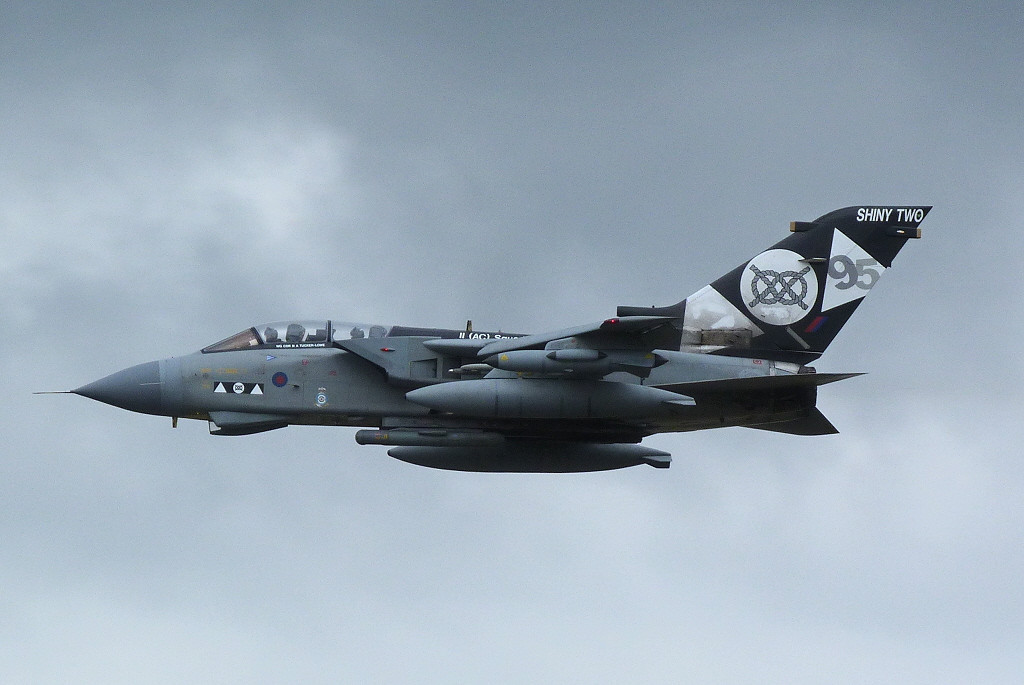 Tornado GR.4 ZD748 overshoots.<br /> By Clive Featherstone.