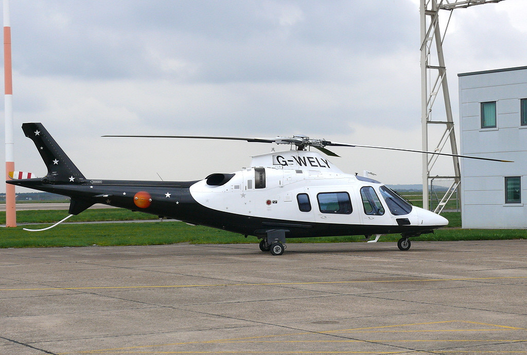 Titan Airways Agusta 109 G-WELY<br /> By Clive Featherstone.