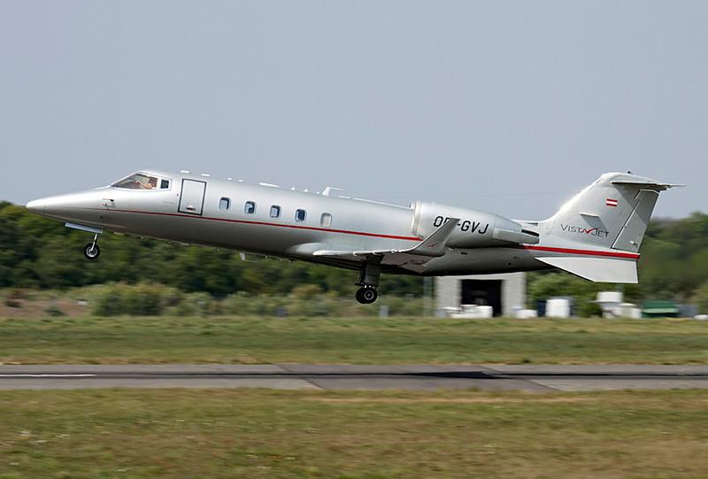 Vista Jet Learjet 60 OE-GVJ.<br /> By Lewis Steeper.