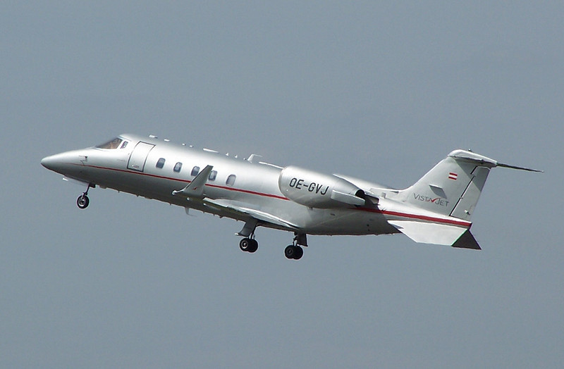 Vista Jet Learjet 60 OE-GVJ.<br /> By Clive Featherstone.