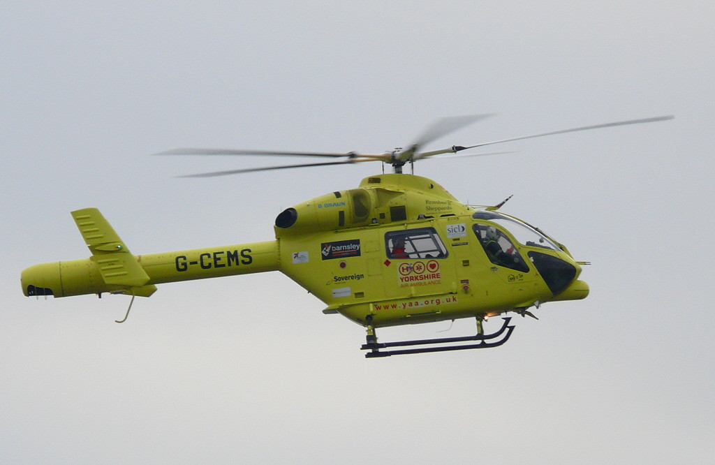 Air Ambulance MD-900 G-CEMS<br /> By Clive Featherstone.