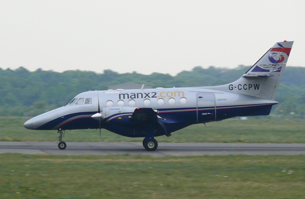Manx2 Jetstream 31 G-CCPW.<br /> By Clive Featherstone.