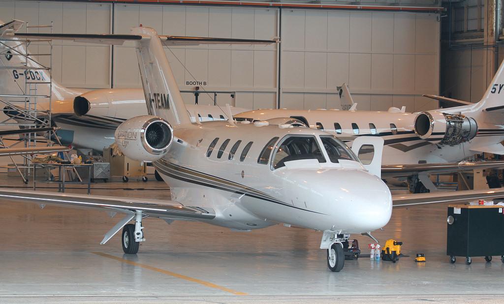 Cessna 525 CitationJet CJ1+ M-TEAM.<br /> By Jim Calow.