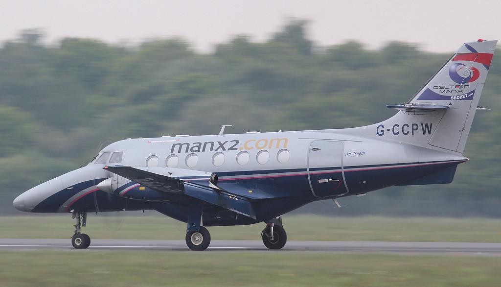 Manx2 Jetstream 31 G-CCPW.<br /> By Jim Calow.