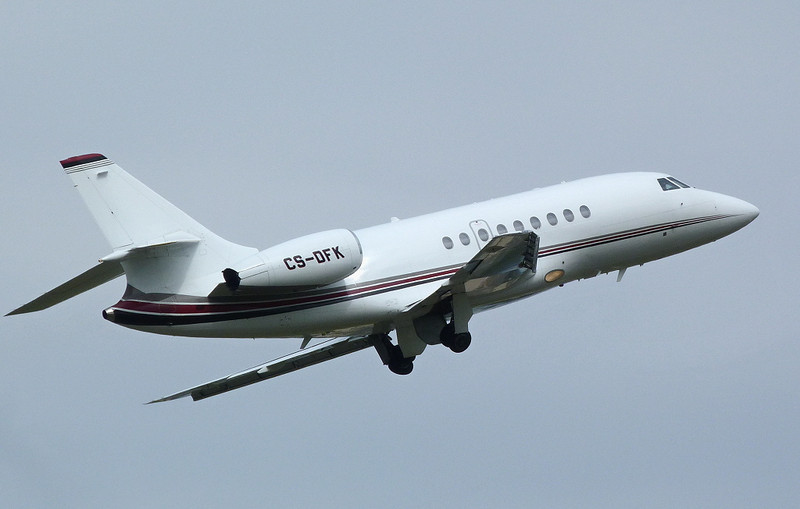 Netjets Falcon 2000 CS-DFK.<br /> By Clive Featherstone.