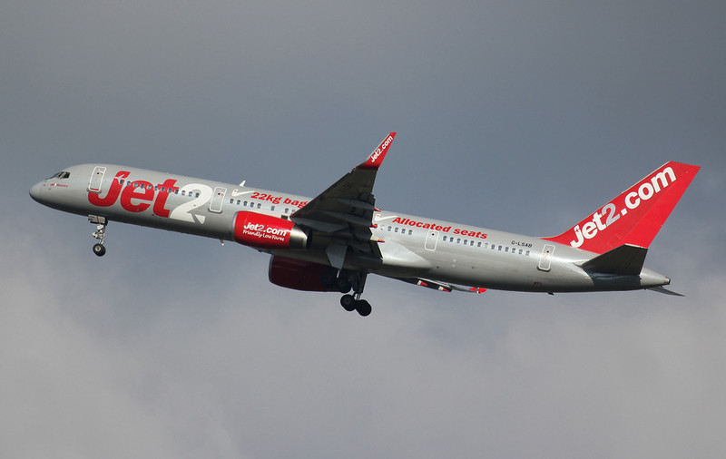 Jet2 757-200 G-LSAB.<br /> By Jim Calow.