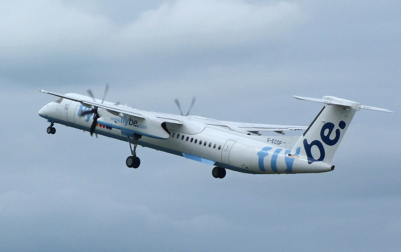 Flybe DHC-8-400 G-ECOP.<br /> By Clive Featherstone.