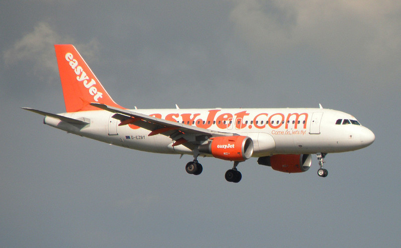 easyJet A319  G-EZBY <br /> By Correne Calow.