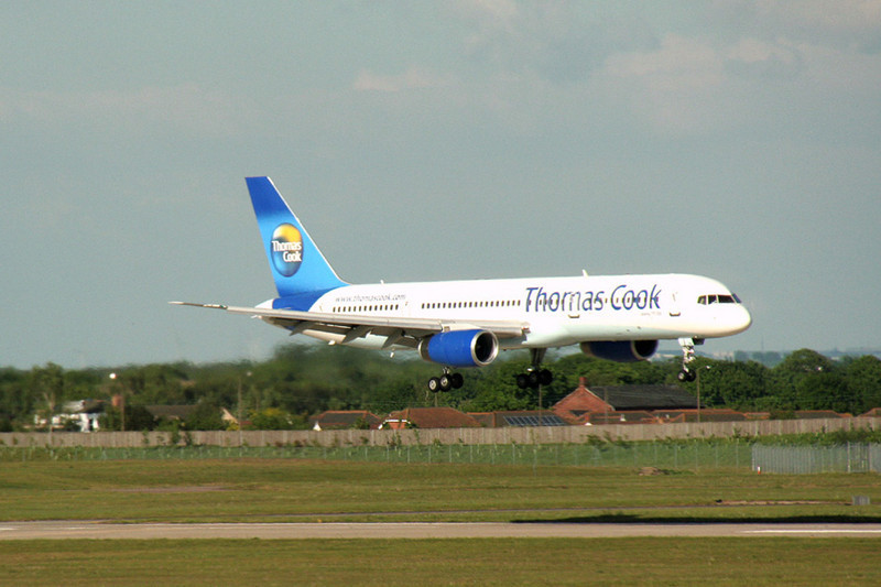 Thomas Cook 757-200 G-TCBA.<br /> By Graham Vlacho.